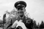 Yury Gagarin with dove of peace. 1961