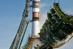Preparations to launch a new carrier rocket Soyuz-2 with the European satellite GIOVE-B at the Baikonur space center. 2006