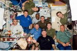 STS-122 and Expedition 16 crew on board the International space station. February 9, 2008