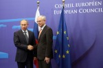 Prime Minister Vladimir Putin during a meeting with President of the European Council Herman Van Rompuy